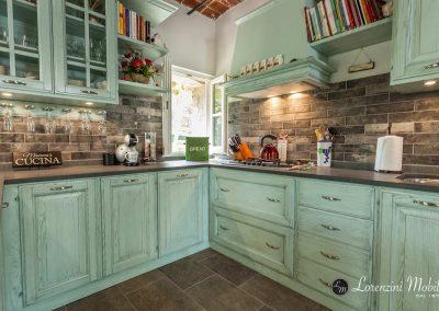 Lacquered corner kitchen