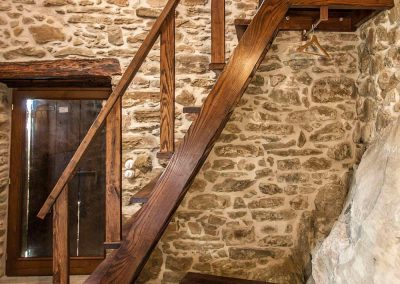 Chestnut wood staircase